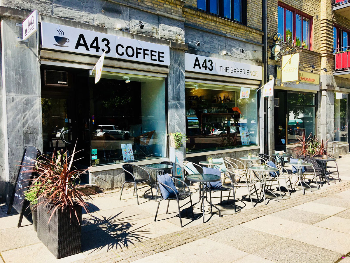 A43 coffee cafe kaffe kaffebar avenyn Göteborg fika frukost lunch