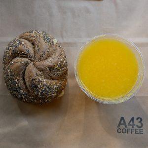 Frukost fralla och juice take away 800x800